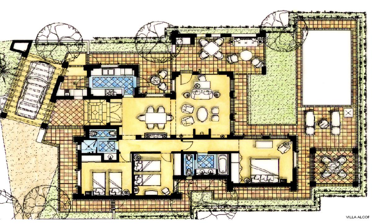 Plano de planta para Villa ref 3471 para sale en El Valle Golf Resort España - Quality Homes Costa Cálida