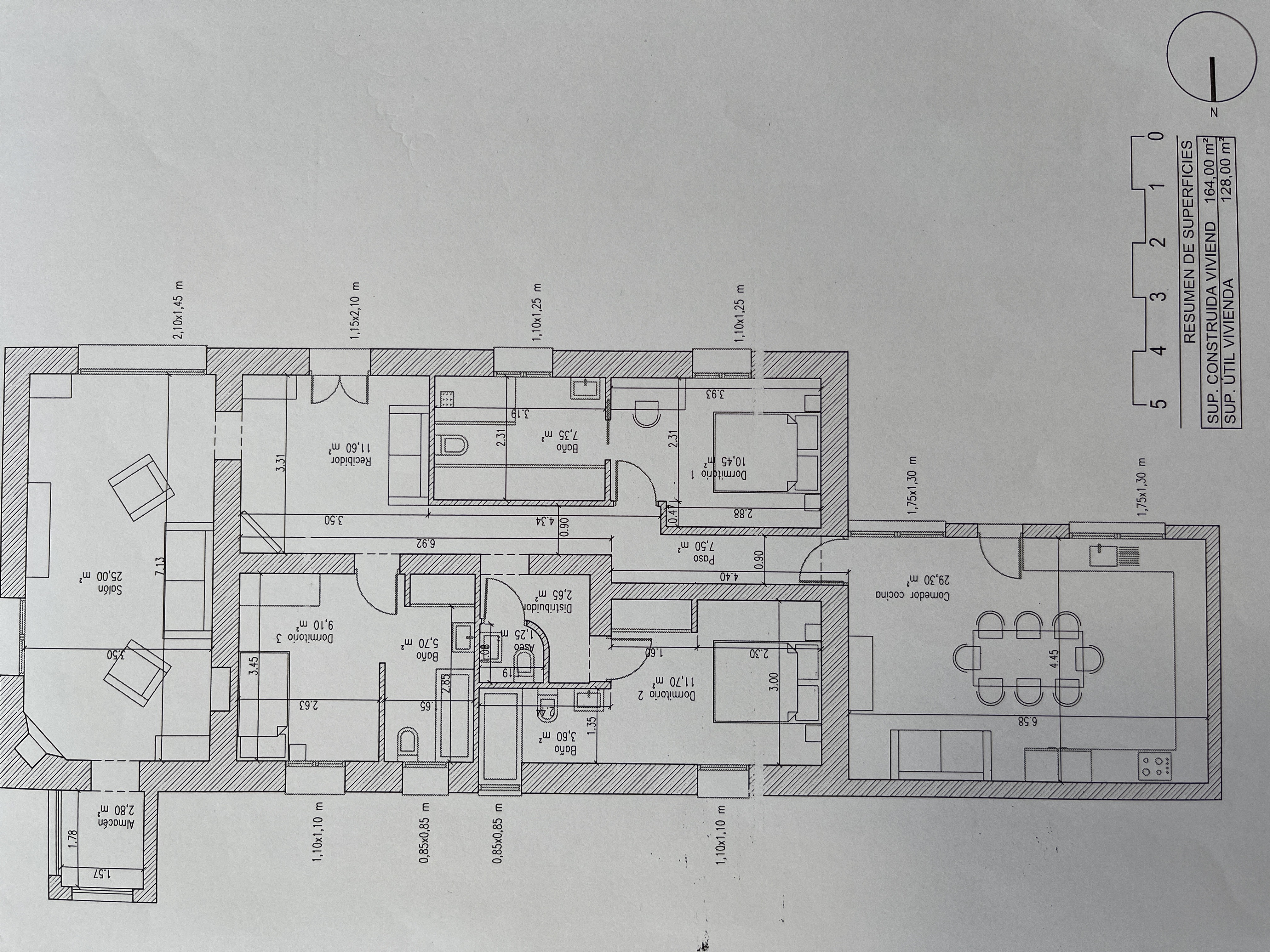 Plano de planta para Finca rústica ref 3498 para sale en Avileses España - Quality Homes Costa Cálida