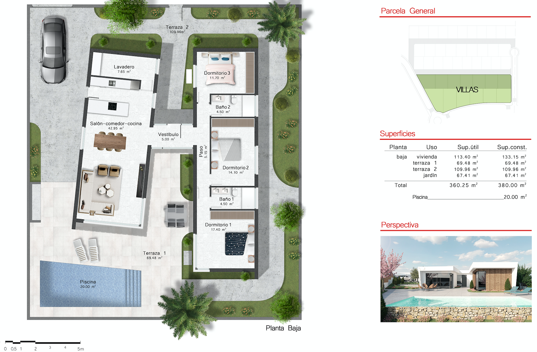 Floor plan for Villa de Lujo ref 3503 for sale in Altaona Golf And Country Village Spain - Quality Homes Costa Cálida