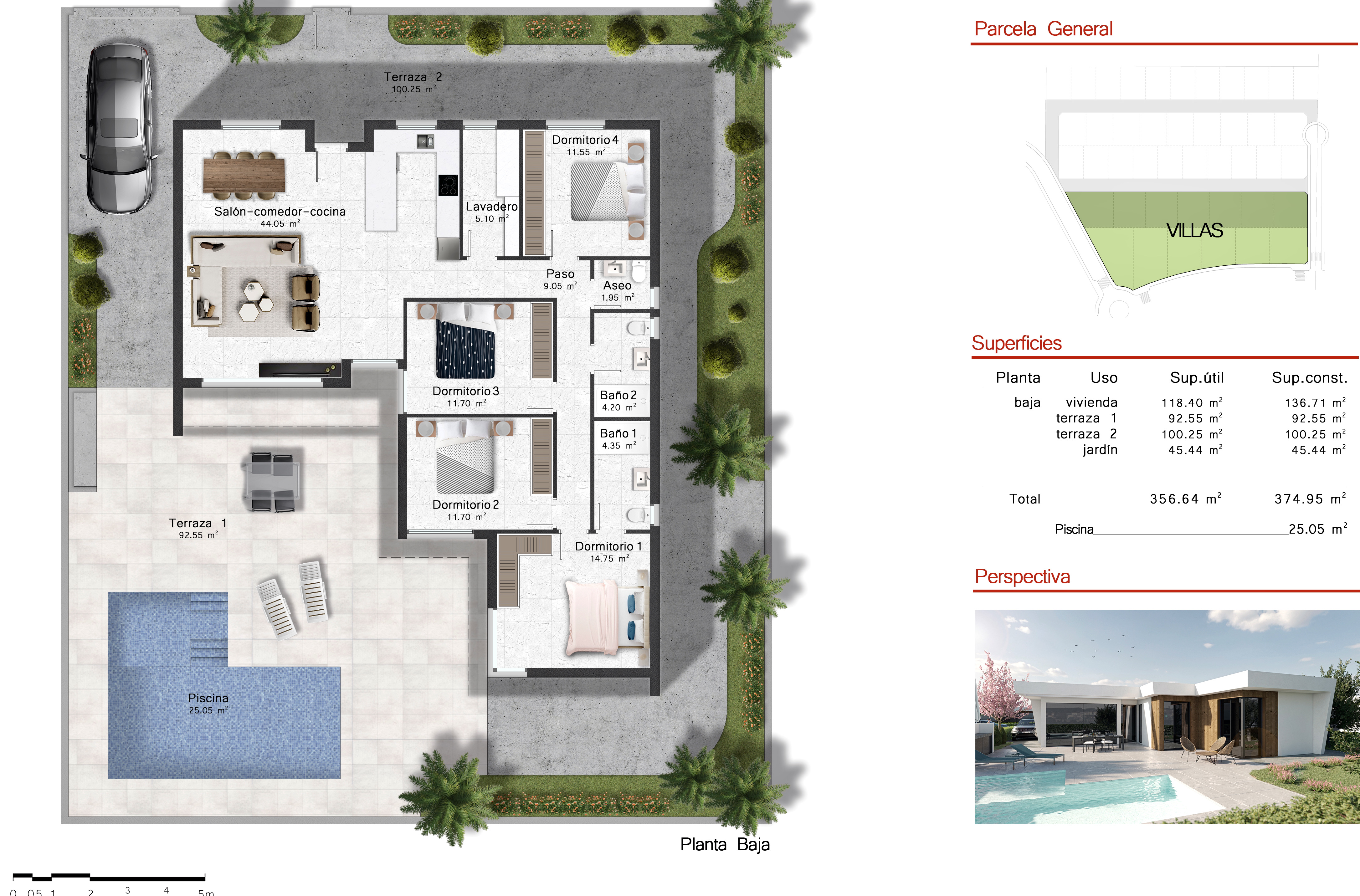 Floor plan for Villa de Lujo ref 3504 for sale in Altaona Golf And Country Village Spain - Quality Homes Costa Cálida