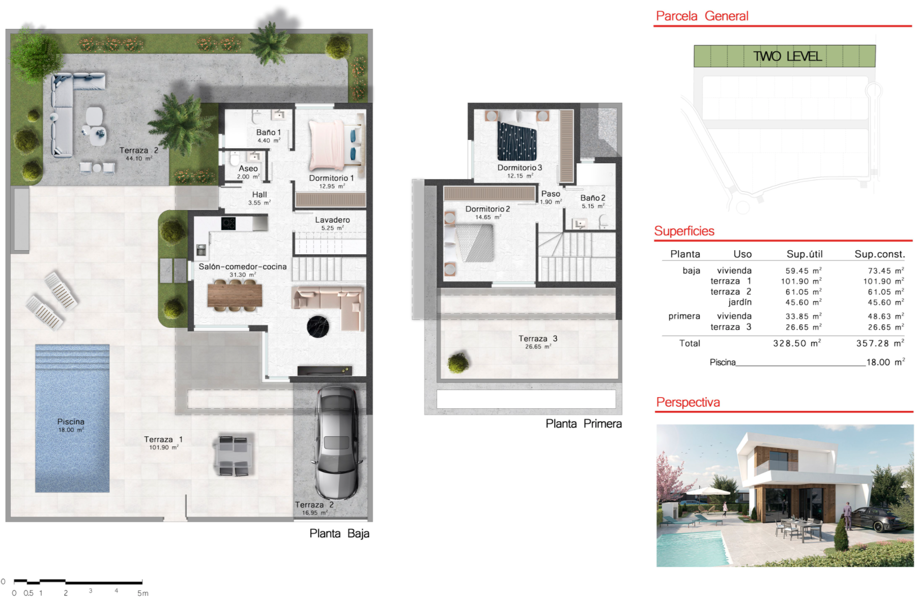 Floor plan for Villa de Lujo ref 3506 for sale in Altaona Golf And Country Village Spain - Quality Homes Costa Cálida