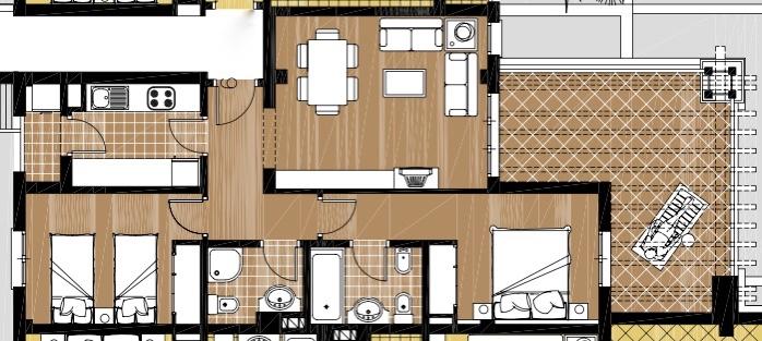 Plano de planta para Apartamento ref 3402 para sale en El Valle Golf Resort España - Quality Homes Costa Cálida