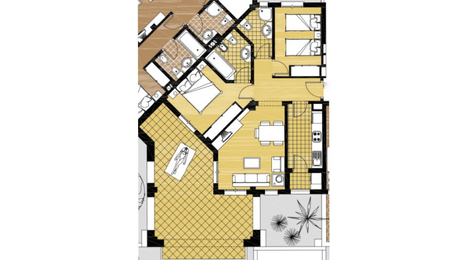 Floor plan for Apartment ref 3351 for sale in El Valle Golf Resort Spain - Quality Homes Costa Cálida
